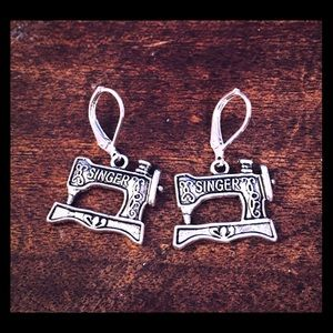 Jewelry - Singer Sewing Machine Handmade Earrings Leverback